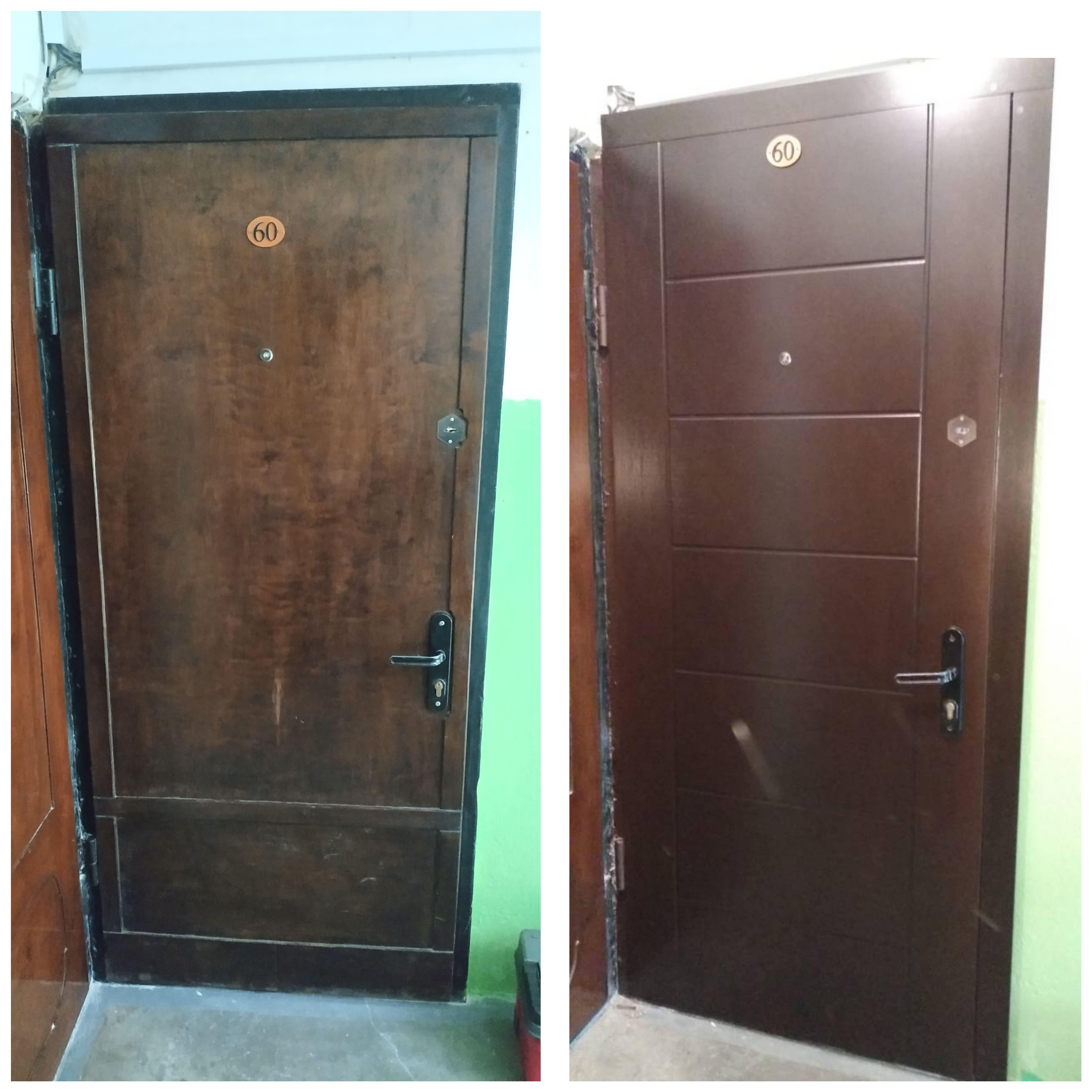 чем можно обновить железную дверь с фото хотелось бы, конечно